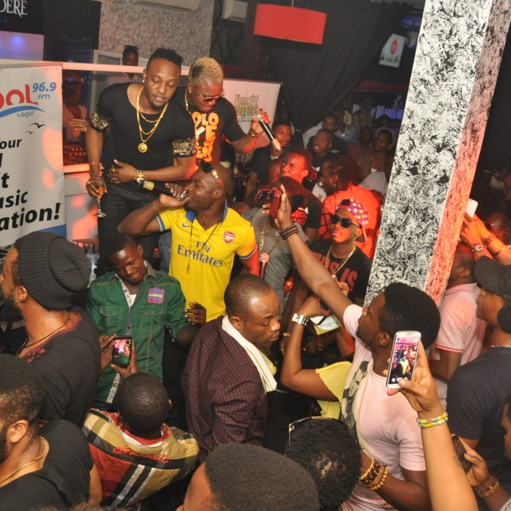 3. KCEE & ORITSE FEMI WITH FANS